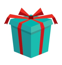3d gift box icon vector image