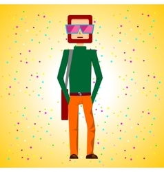 Man standing with hands in pockets vector