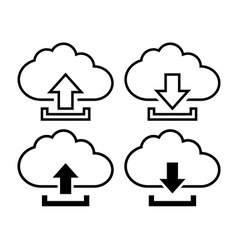 Cloud with arrow icon vector