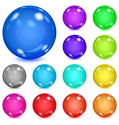 Multicolored opaque spheres vector