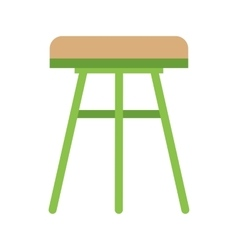 Stool  Wooden vector image