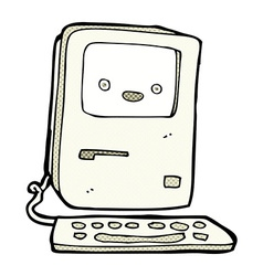 Comic cartoon old computer vector