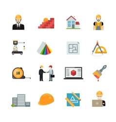 Architect icons set vector image
