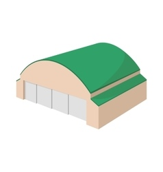 Hangar building cartoon icon vector