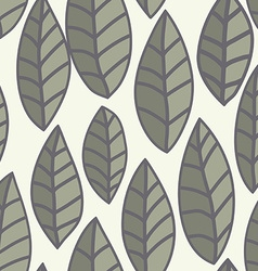 Leaf pattern seamless doodle flowers vector