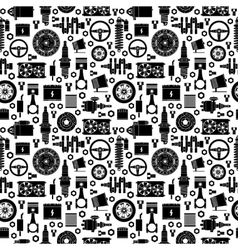 Auto spare parts seamless pattern vector