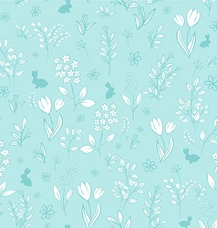 Hand drawn floral seamless eastern pattern with vector