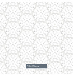 Abstract floral pattern in mandala style vector
