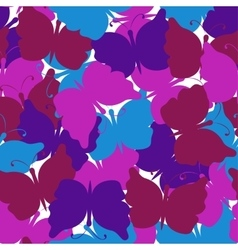 Butterfly colored seamless pattern vector image vector image