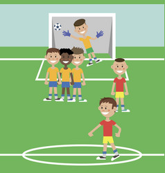 children play football vector image vector image