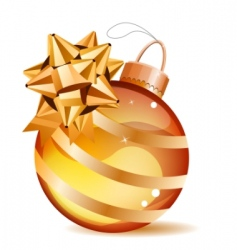 Christmas gold ball isolated vector image vector image