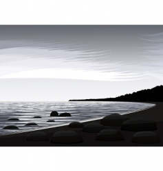 coast of northern lake vector image