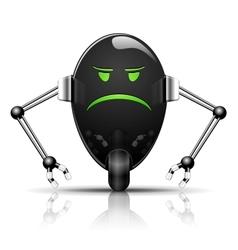 Evil Egg Robot vector image