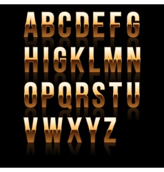Gold Font Set 1 File contains graphic style vector image vector image
