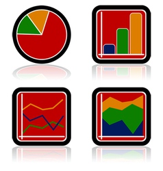 Graph icons vector