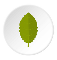 Green plum leaf icon circle vector