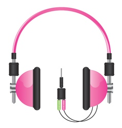Headphones pink vector