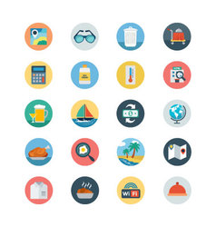 Hotel and Restaurant Flat Colored Icons 3 vector image vector image