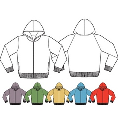 jacket template vector image