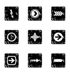 Kind of arrow icons set grunge style vector