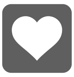 Love heart flat squared icon vector