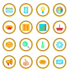 Marketing icons circle vector