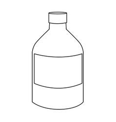 medicine bottle liquid health care icon vector image vector image