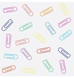 Paperclips seamless pattern vector