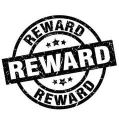 Reward round grunge black stamp vector