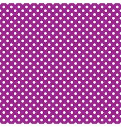 seamless purple polka dot vector image vector image