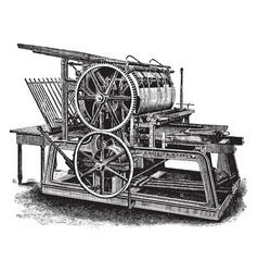 Single large cylinder press vintage vector