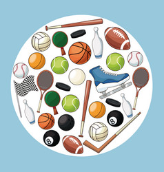 sport accessories equipment icon vector image vector image