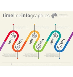 Timeline infographic business design template vector