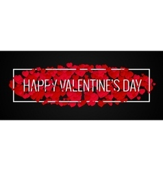 Valentines day banner design background vector
