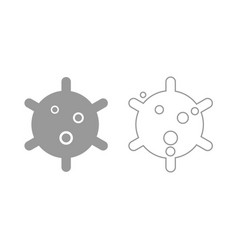 virus icon grey set vector image vector image