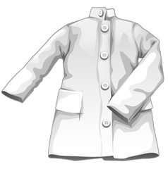 White medical gown medicine icon vector