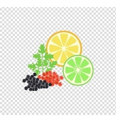 Red and black caviar template vector