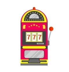 Slot Machine with One Arm Gambling vector image
