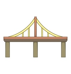 Steel bridge icon cartoon style vector
