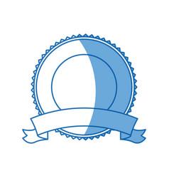 label badge ribbon banner decoration blank emblem vector image