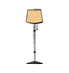 Floor lamp light decoration interior object vector