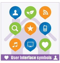 Web user interface symbols set vector image
