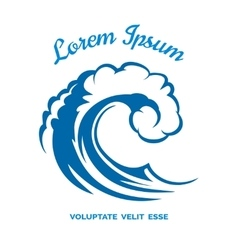 Sea wave logo template vector