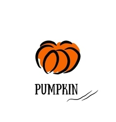 Pumpkin print the organic product vector