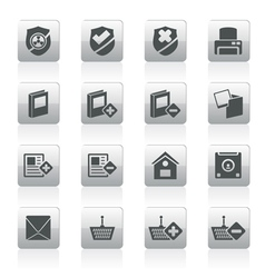 Internet and website buttons and icons vector