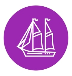 Sailboat line icon vector