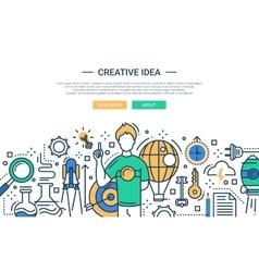 Creative idea - line design website banner vector