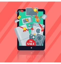 Big Sale in Electronics Store Flat Concept vector image