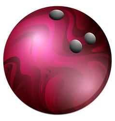 BM bowling ball 07 vector image