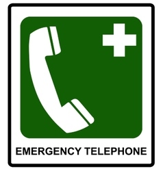 Emergency hospital telephone safety signs vector